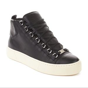 Balenciaga Black Arena High Top Sneakers